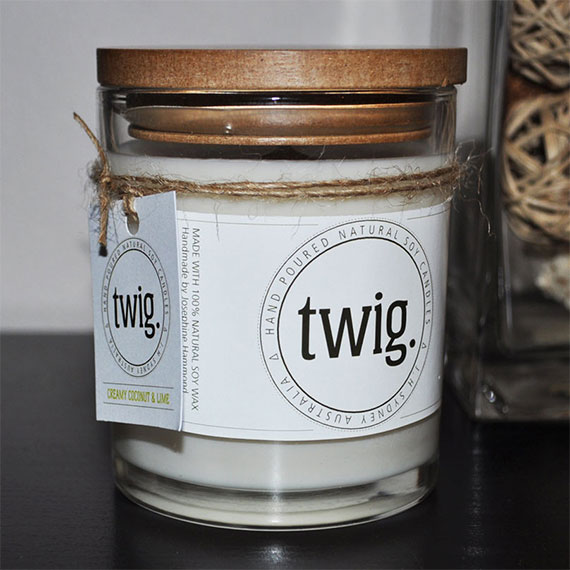 Twig Soy Candles