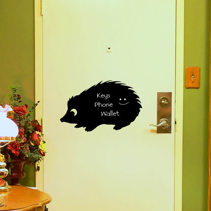 Reusable Chalkboard Echidna Wall Decal