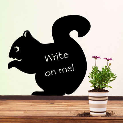 Reusable Chalkboard Squirrel Wall Decal