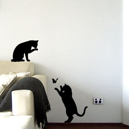 Le Chat Noir   Black Cat Wall Decal Part 80