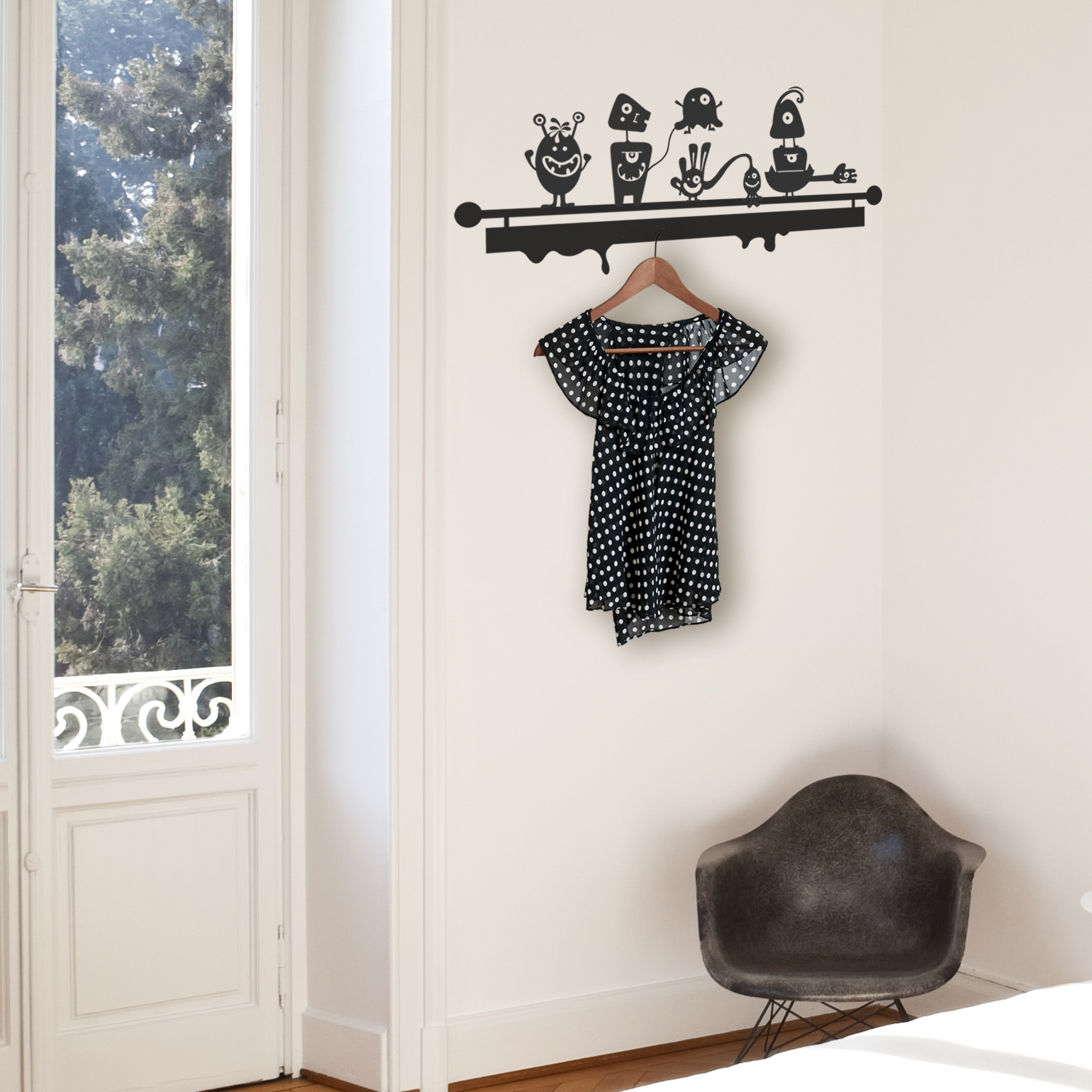 Monsters Coat Hanger Wall Decal