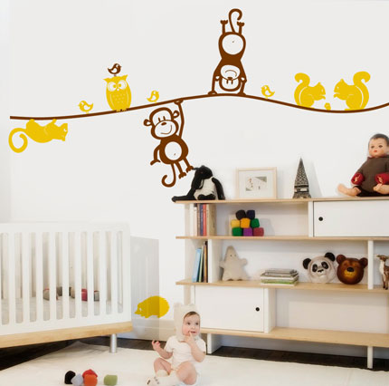 Nursery Animals Wall Decal Part 43