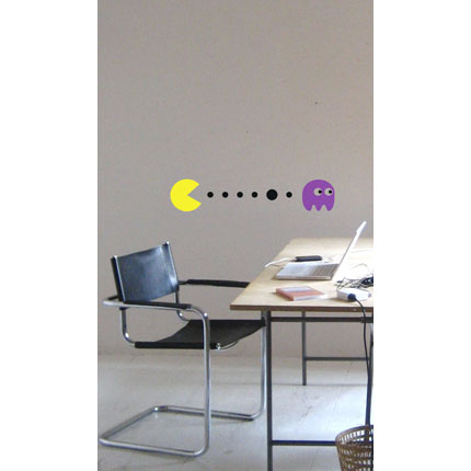Pacman and Pinky Wall Decal