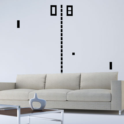 Pong Wall Decal