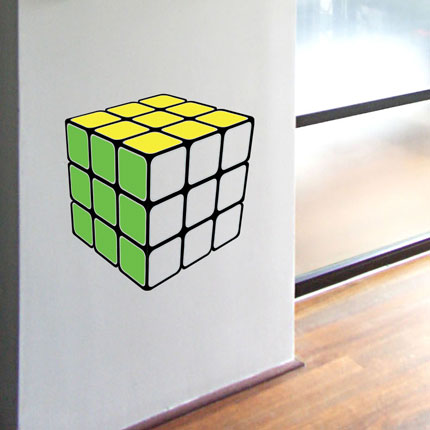 Retro Cube Wall Decal