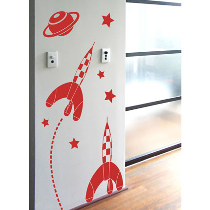 Space Rockets Wall Decal