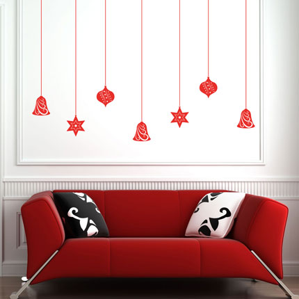 Christmas Baubles Wall Decal - Christmas Designs - Wall Decals