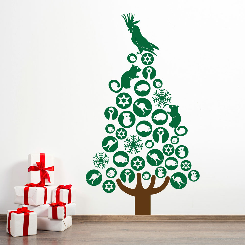 Australian christmas tree christmas designs wall decals australian christmas tree amipublicfo Images