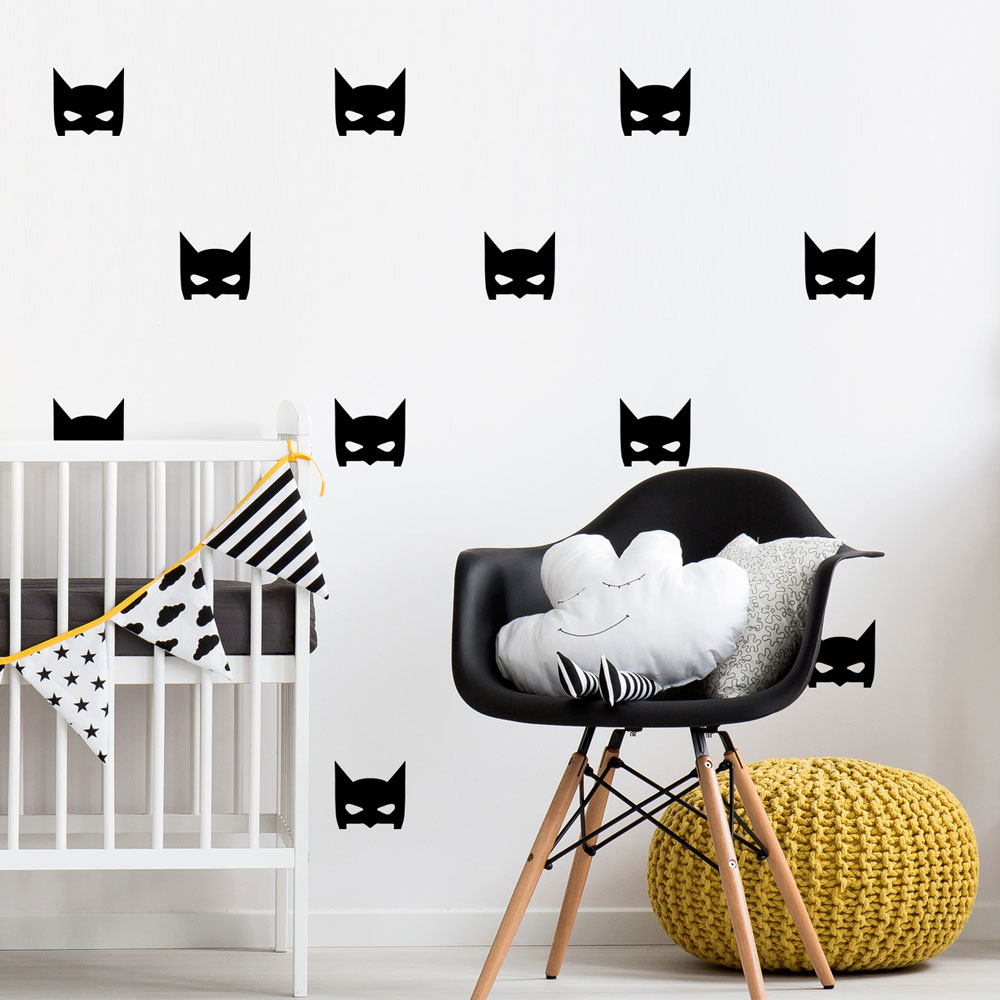 Batman Masks Wall Decal