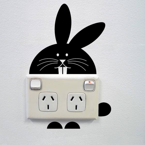 Bunny Wall Sticker for Sockets