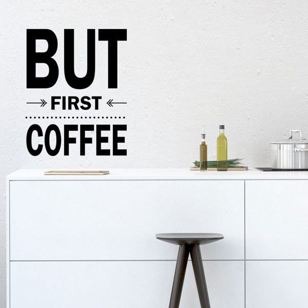 But First Coffee Wall Decal