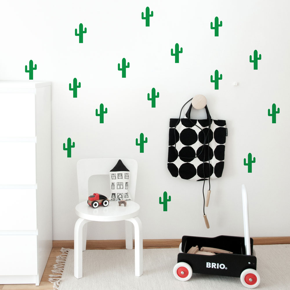 Cactuses Pattern Wall Decal