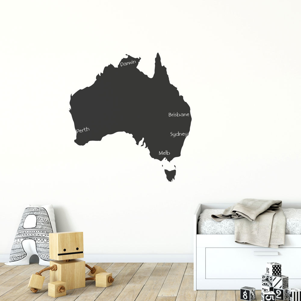 Reusable Chalkboard Map of Australia