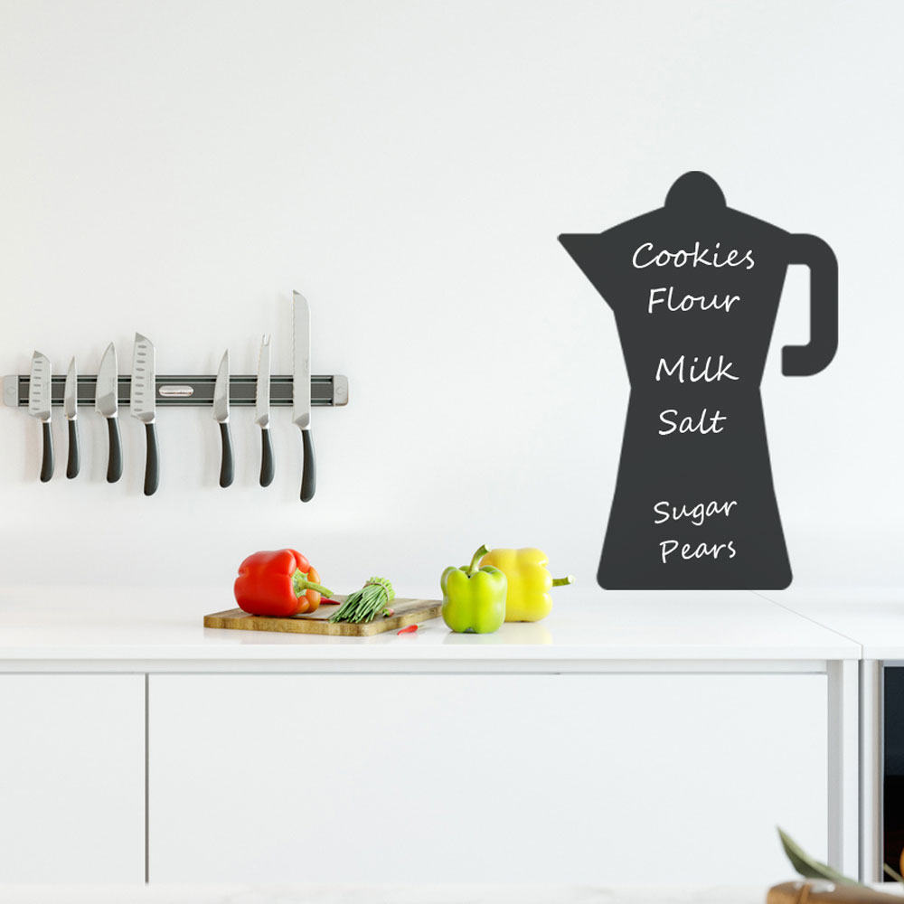 Reusable Chalkboard Moka Wall Decal