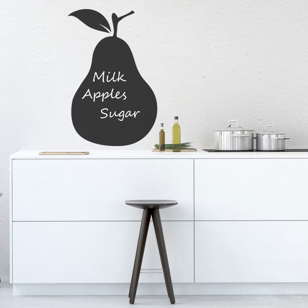 Reusable Chalkboard Pear Wall Decal