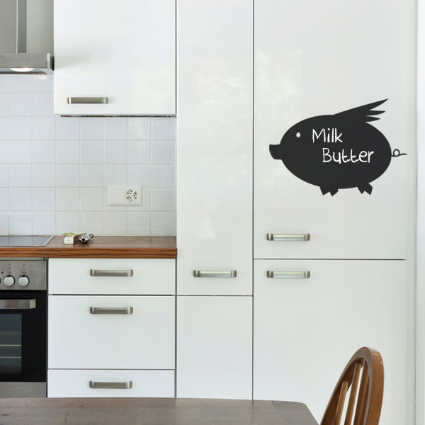 Reusable Chalkboard Pig Wall Decal