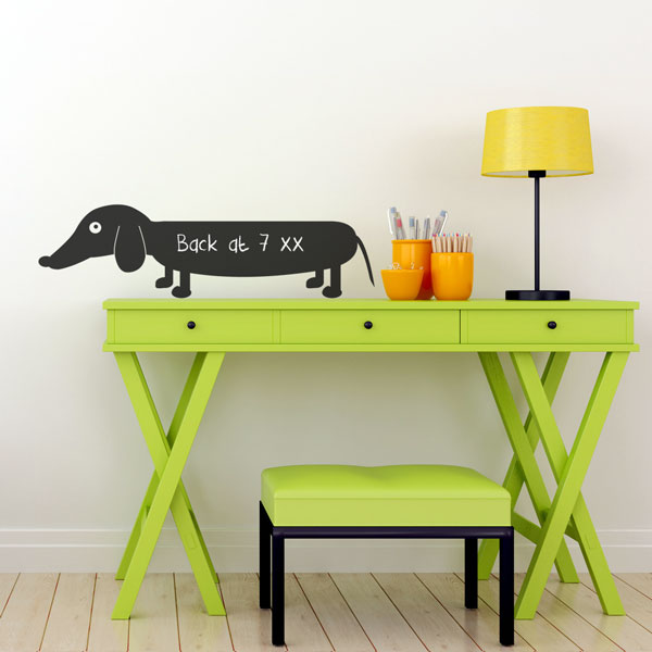 Reusable Chalkboard Sausage Dog Wall Decal