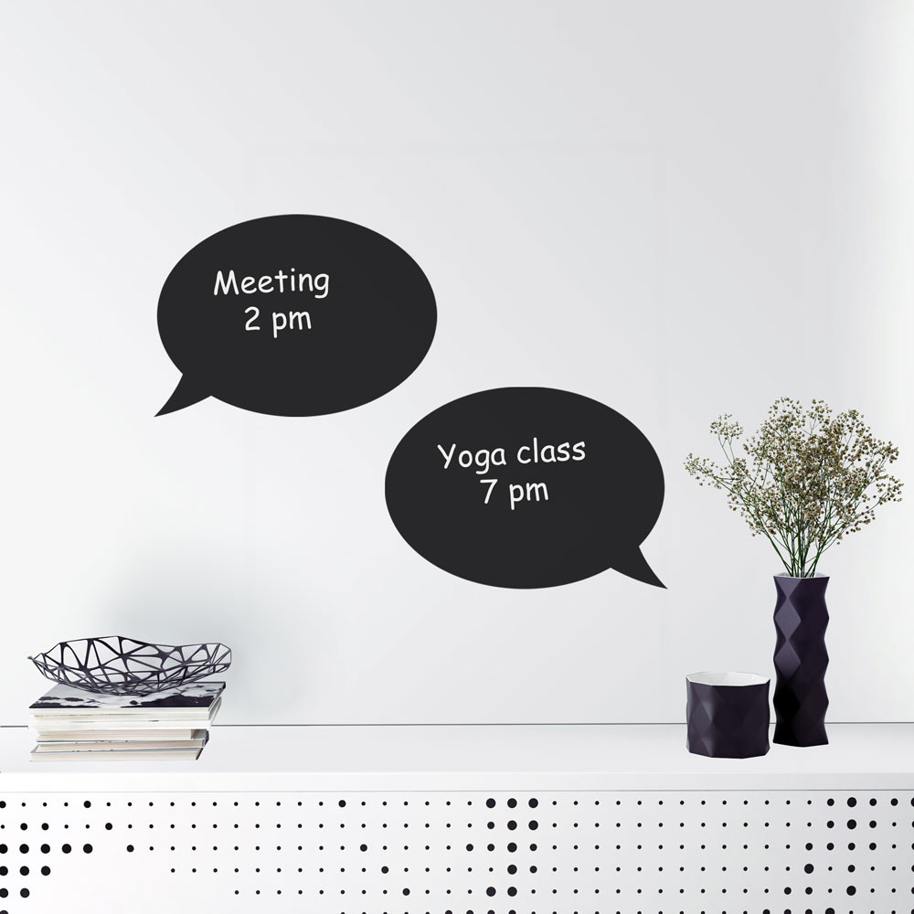 Reusable Chalkboard Speech Bubble Wall Decal