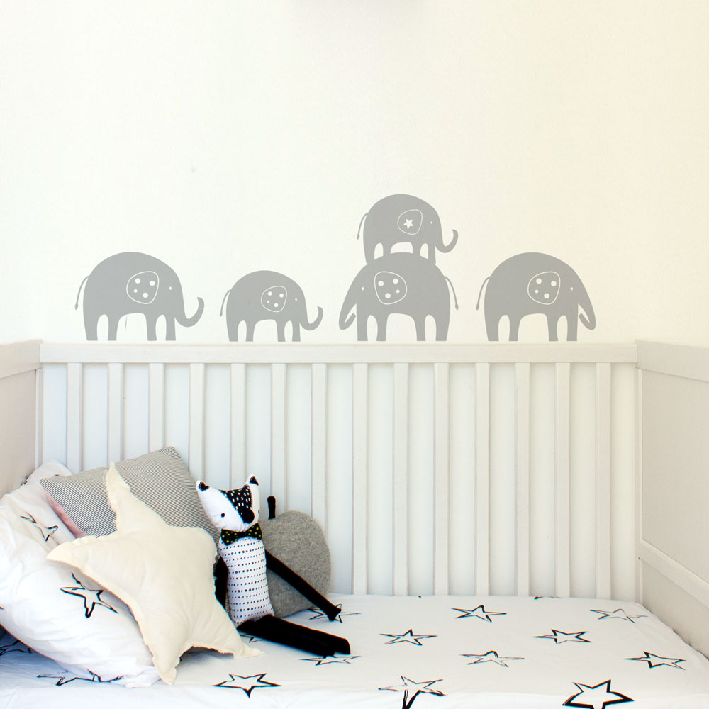 Elephants Trail Wall Decal