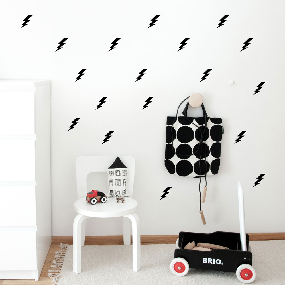 Lightning Bolts Wall Decal