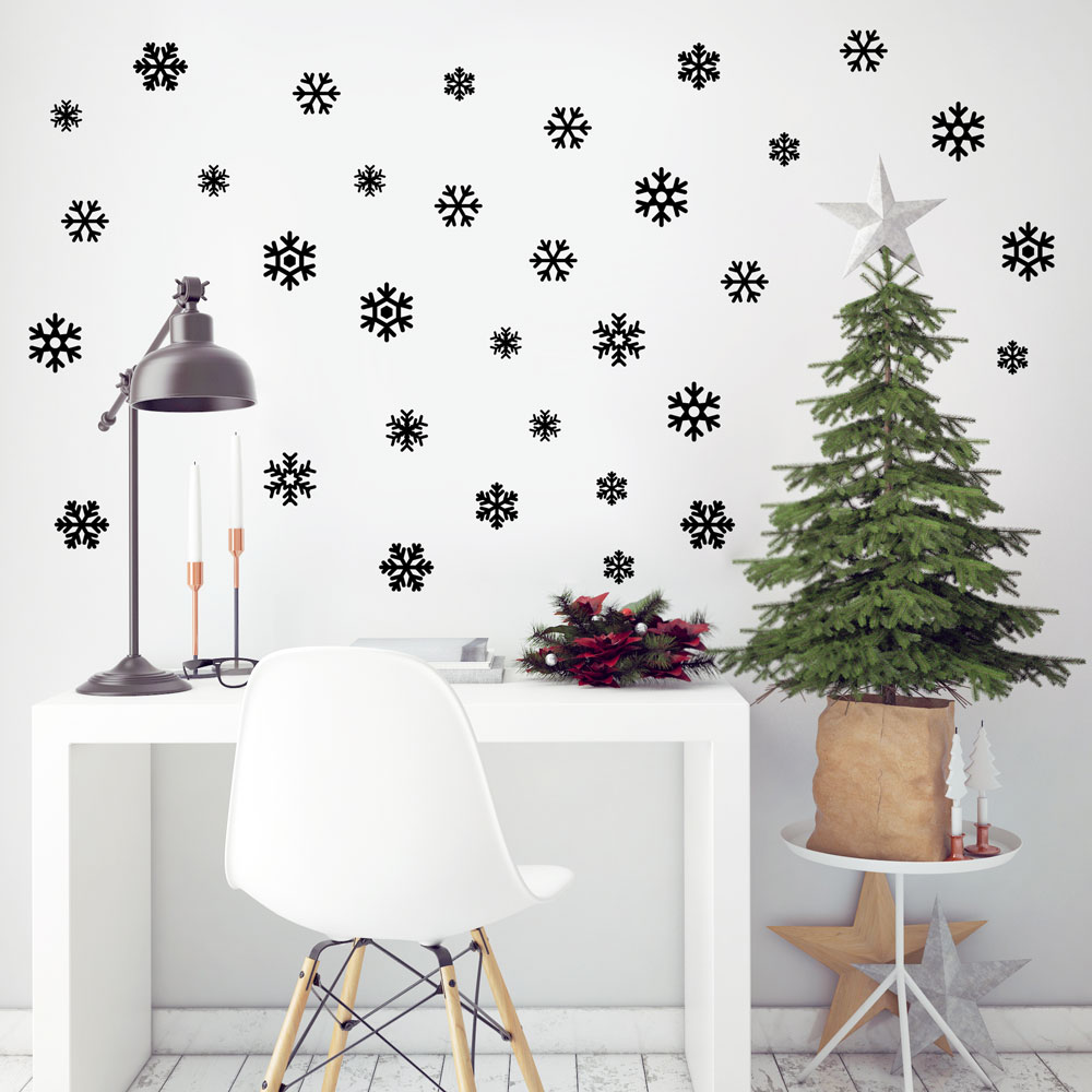 Fancy  Mini Snowflakes Wall Decal Image