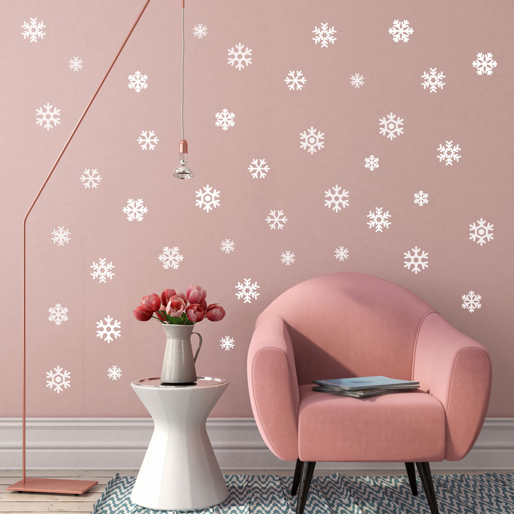 Cool Mini Snowflakes Wall Decal