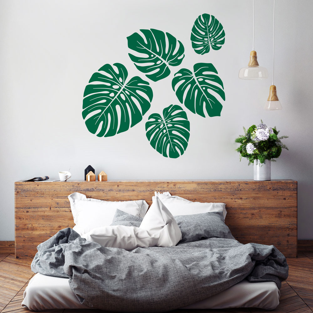 Room dcor wall decals vinyldesign vinyldesign tropical leaves wall decal amipublicfo Gallery
