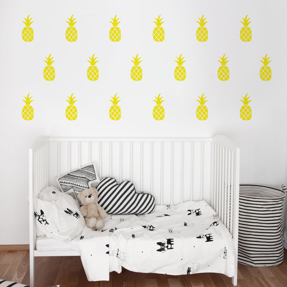 Pineapples wall decal geometrical wall patterns wall decals pineapples wall decal image 1 amipublicfo Image collections