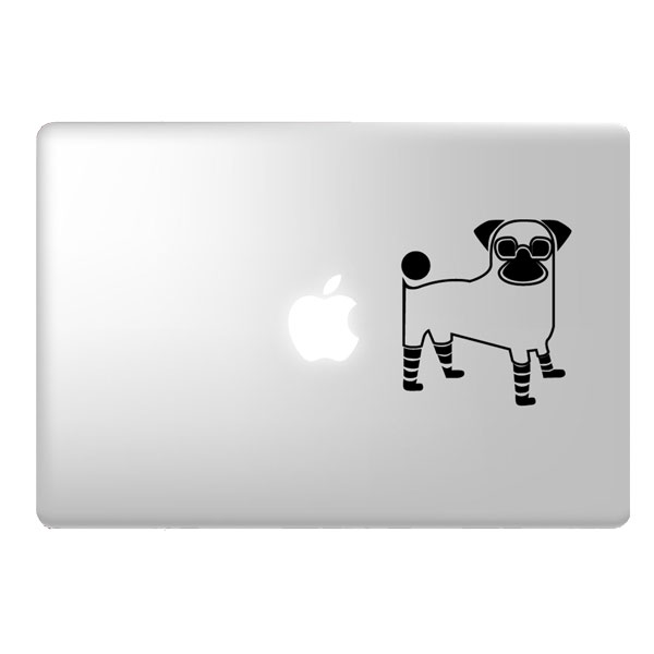 Pug Laptop Decal