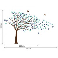 Butterflies Blowing Tree Wall Decal Image 1