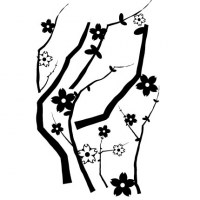 Cherry Blossom Branch Wall Decal Image 1