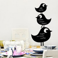 Reusable Chalkboard Birds Wall Decal Image 0