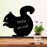 Reusable Chalkboard Squirrel Wall Decal Image 0