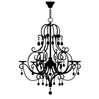 Chandelier Wall Decal Image 2