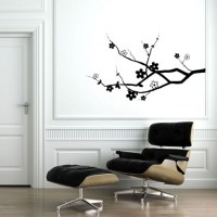 Cherry Blossom Branch Wall Decal Image 0