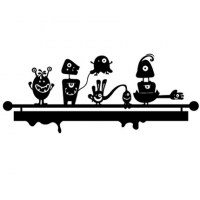 Monsters Coat Hanger Wall Decal Image 2