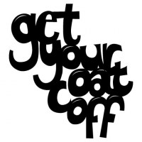 Get Your Coat Off Coat Hanger Wall Decal Image 1