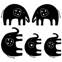 Elephants Trail Wall Decal Image 3