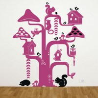 Funky Tree Wall Decal Image 2