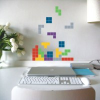 Falling Blocks Wall Decal Image 1