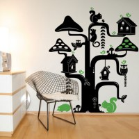 Funky Tree Wall Decal Image 0