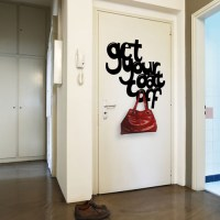 Get Your Coat Off Coat Hanger Wall Decal Image 0