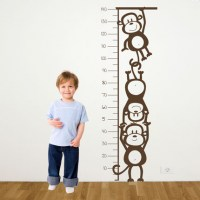 Monkey Height Chart Wall Decal Image 2