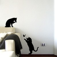 Le Chat Noir - Black Cat Wall Decal Image 0