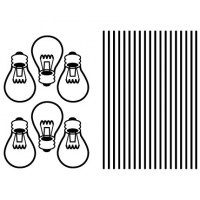 Light Bulbs Wall Decal Image 1