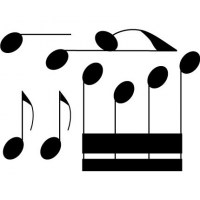 Musical Notes Wall Decal Image 1