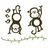 Monkeys Wall Decal Image 1