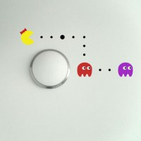 Ms Pacman, Blinky and Pinky Wall Decal Image 0