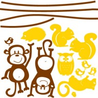 Nursery Animals Wall Decal Image 3