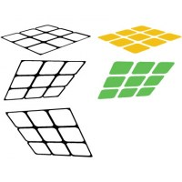 Retro Cube Wall Decal Image 1